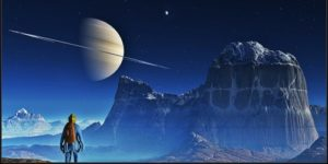 space travel planet