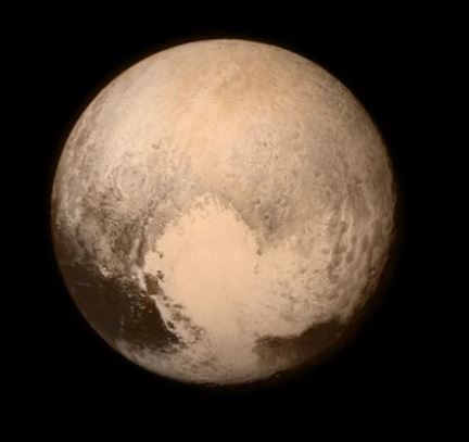 Pluto as photographed by New Horizons